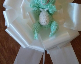 "Froggy Gone Accourting 9""Gift Bow"