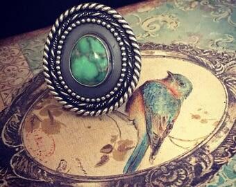 Sterling silver damele weave ring.