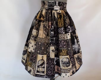 Edgar Allan Poe, Nevermore, High Waist Book Skirt