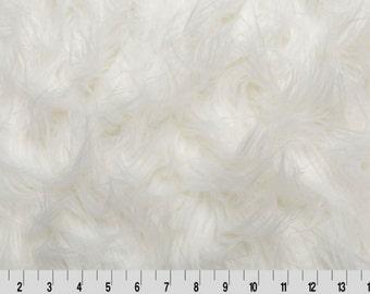 Faux Fur Fabric - Gorilla Fur Fabric in White by Shannon Fabrics