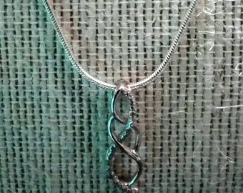 Infinity Pendant Sterling Silver Necklace