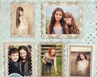 ON SALE Digital Frames - Photoshop Template - INSTANT Download