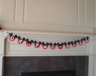 Mickey Mouse Birthday Party Banner/Oh, Two-Dles / 2nd Birthday Party Decorations/Mickey Mouse Clubhouse Banner by FeistyFarmersWife