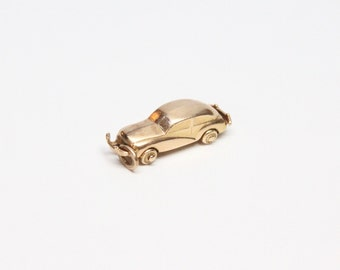 Vintage 14k Gold Automobile Charm - Moving Parts