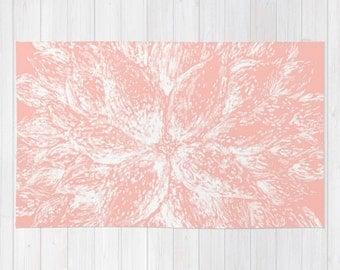 light pink flower area rug light pink rug pastel pink rug pink floral