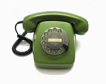 Old Rotary Siemens phone | FeTAp 611-2a-fern Green | 1977