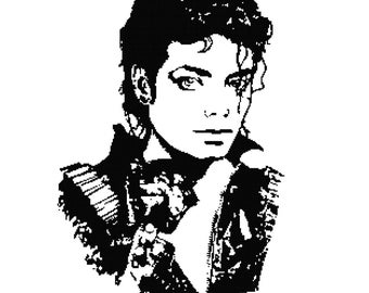 Michael Jackson Silhouette PDF Cross-Stitch Pattern