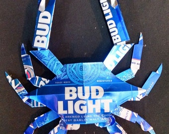 Bud Light Crab. Made from Bud Light cans.