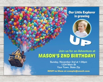 Disney Up Birthday Invitation - Printable File or Printed Invitations