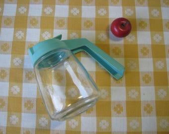 Mid Century Turquoise Syrup Honey Dispenser - Federal Housewares - Aqua - Teal -  Vintage 1950's