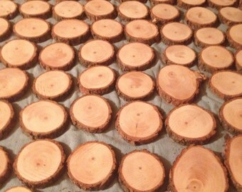 100 NATURAL Pine Wood slices 3inch to 4inch
