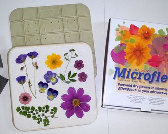 "Microwave Flower Press - Microfleur - 9"" x 9"""