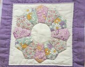 Vintage handmade quilt square 15 x 15 in