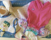 2 Vintage Cabbage Patch doll outfits w shoes