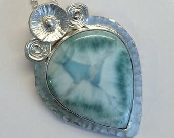 Larimar Victorian Style Necklace