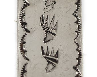 150 Retail Tag Navajo Bear Paw Authentic Nickel Handmade Made by Charlene Little Native American Money Clip 11268-6