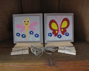 Dragonfly and Butterfly artwork hanger