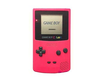 Vintage Berry Colored Nintendo Gameboy Color Handheld Console - GBC