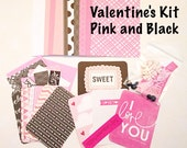 Diy Valentine's Day Card Making Kit - Pink and Black