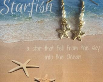 Gold Sea Star Earrings