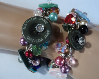 M2M Matilda Jane Spare Button Mommie & Me Bracelet  Set  Each bracelet comes in a white box -  For Ladies, For Girls, Birthday, Photo Prop