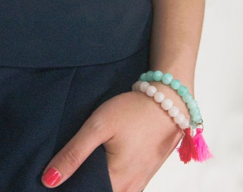 Tiffany Blue Tassel Bracelet