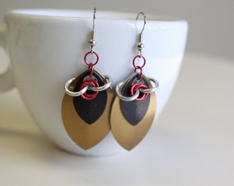 Large Scale Maille Earrings