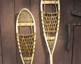 Traditional Wooden, Wood and Rawhide Snowshoes