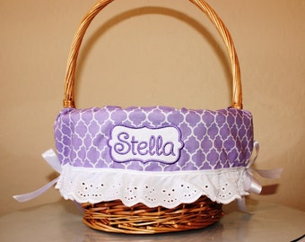 Easter Basket Liners for boys and girls, Add a ruffle option, Personalized Basket Liners, Design your own basket liner