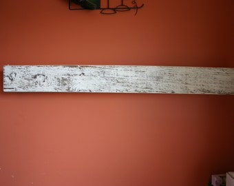 """54"""" Floating Fireplace Mantle Reclaimed Wood Shelf. Distressed, Barn Wood. Free Shipping"""