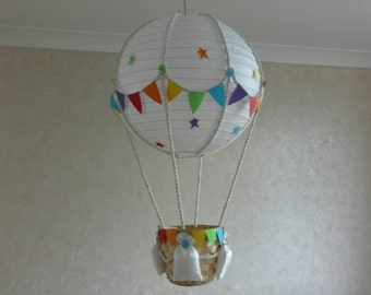 Add your own toy Hot Air Balloon Nursery  light  shade /  Made To Order