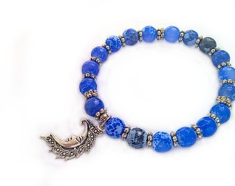 Agate bracelet, gemstone bracelet
