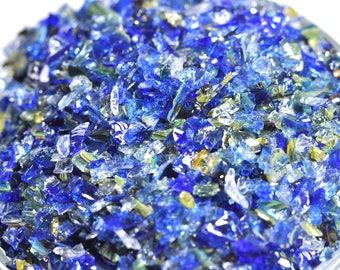 NEW COLOUR - Multicolor -Blue  Glass Frit - K1 - Reichenbach - 50g (1.76 ounces)