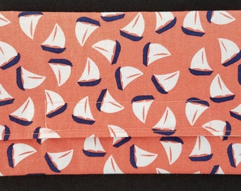 Reusable Snack Bag - Sailboats on Orange