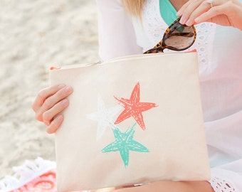 SOLD OUT Starfish Cotton Canvas Material Wrist Strap with Free Personalization Monogramming, Perfect for beach or poolside Starfish