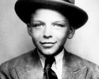 Frank Sinatra candid, child photo, Old blue eyes, Black and white, old photo, vintage antique, photography, picture, print, fine art