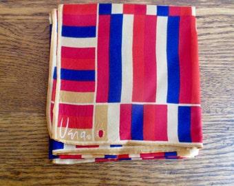 Vintage Vera Neumann Colorblock Scarf