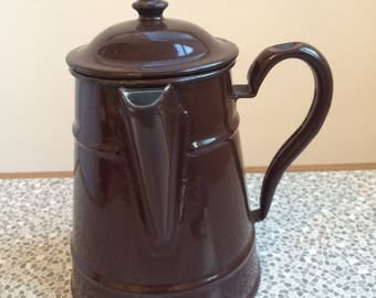 Brown enamel coffee pot