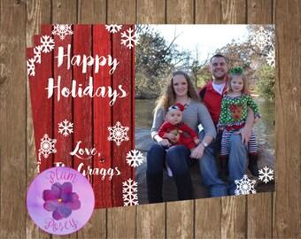 Snowflake Happy Holidays Card 5x7