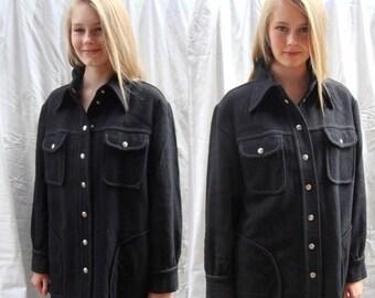 CLEARANCE Pendletons Knockabout,vintage 1950s, jacket, coat, black, industrial, western, southwestern,  mad men, rockabilly, sz LG/ XL