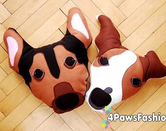OOAK  Custom Dog Pattern Pet Portrait pillow stuffed plush dog lover's gift babyshower birthday gift nursery room decor/ 4PawsFashion