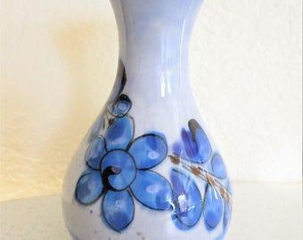 Vintage Small Ceramic Flower Vase Light Blue Pottery Grandma's House