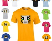 Stampylongnose T shirt Plush applique Mine mining pixel Craft Character Stampy Cat