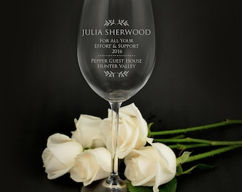 Engraved Corporate 360ml Wine Glass