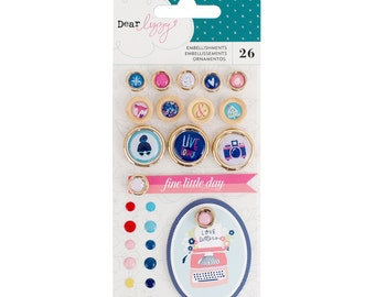 Dear Lizzy - Lovely Day Collection - Embellishment Pack - 26 pieces - 376958