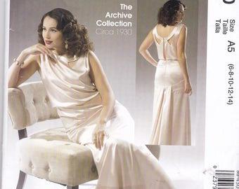 McCalls p430 1930s Reissue Pattern Womens  Evening Gown, Prom Dress or Wedding Dress Sze 6,8,10,12,14 UNCUT