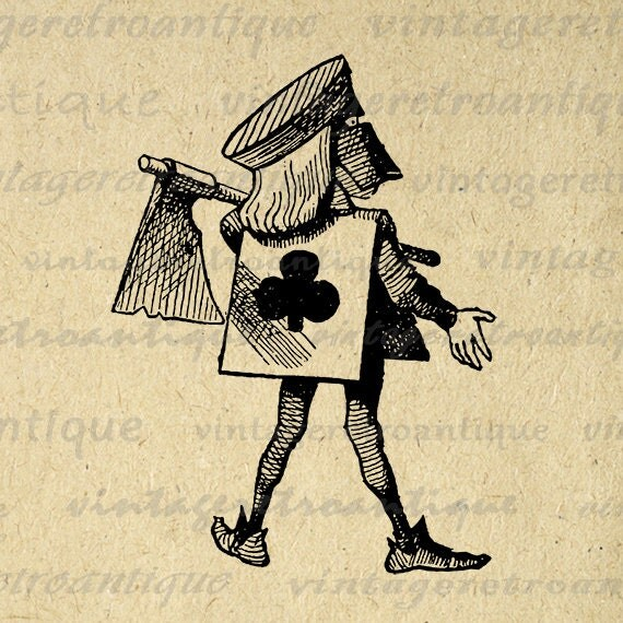 vintage clip art alice in wonderland - photo #26