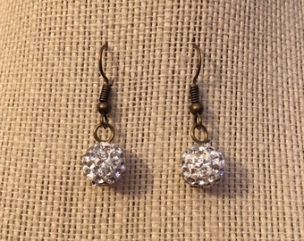 10mm Sparkle Bead Earrings