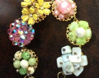 Springtime Vintage Earring Bracelet