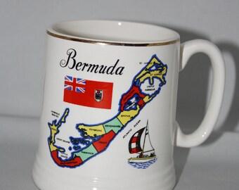 Lord Nelson Pottery Mug -- Bermuda Souvenir